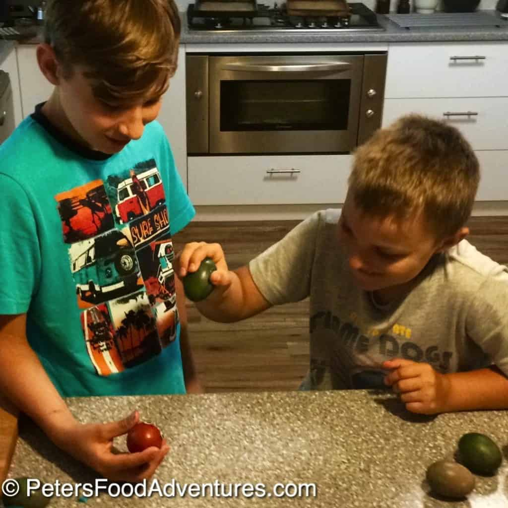 2 boys Cracking Easter Eggs - Russian Style