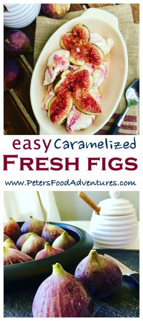 Caramelized Figs Baked with Honey is a delicious and easy fig dessert, served warm over vanilla ice cream, that is sure to impress.