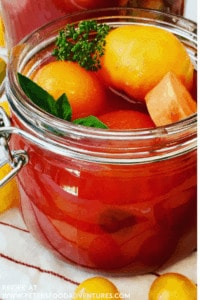Marinated Tomatoes - semi pickled in a jar
