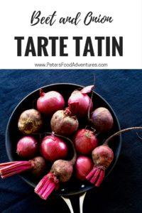 Beet and Onion Tarte Tatin