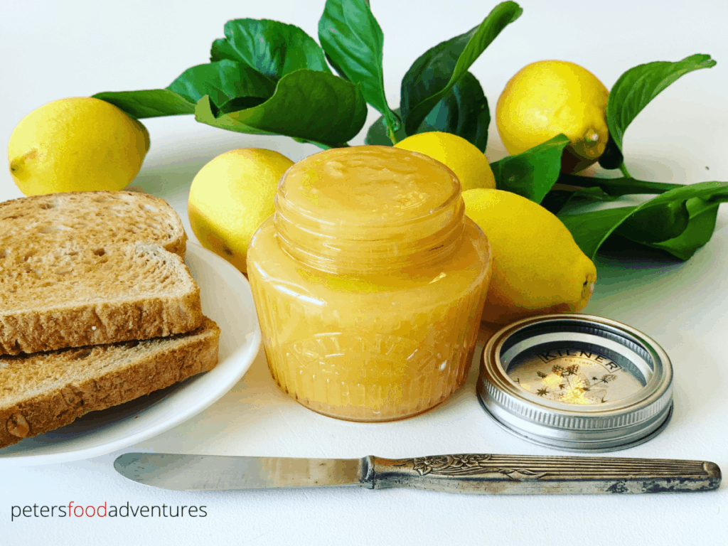 This Lemon Curd or Lemon Butter, is bursting with lemon citrus goodness. Easy to make and so tasty! Smooth, creamy, tangy, yet sweet. Perfect breakfast treat on toast, waffles, scones, pancakes and more.