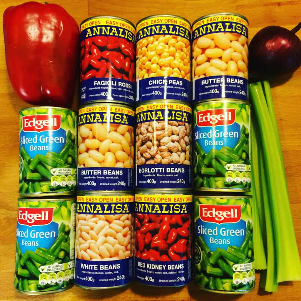 Canned Beans for Salad