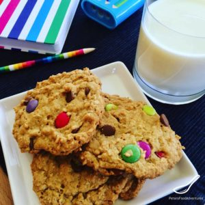 The Best Monster Cookies recipe you'll try. Everything you want in a cookie like oats, smarties, chocolate chips, peanut butter! This large batch recipe makes enough to feed a small army!