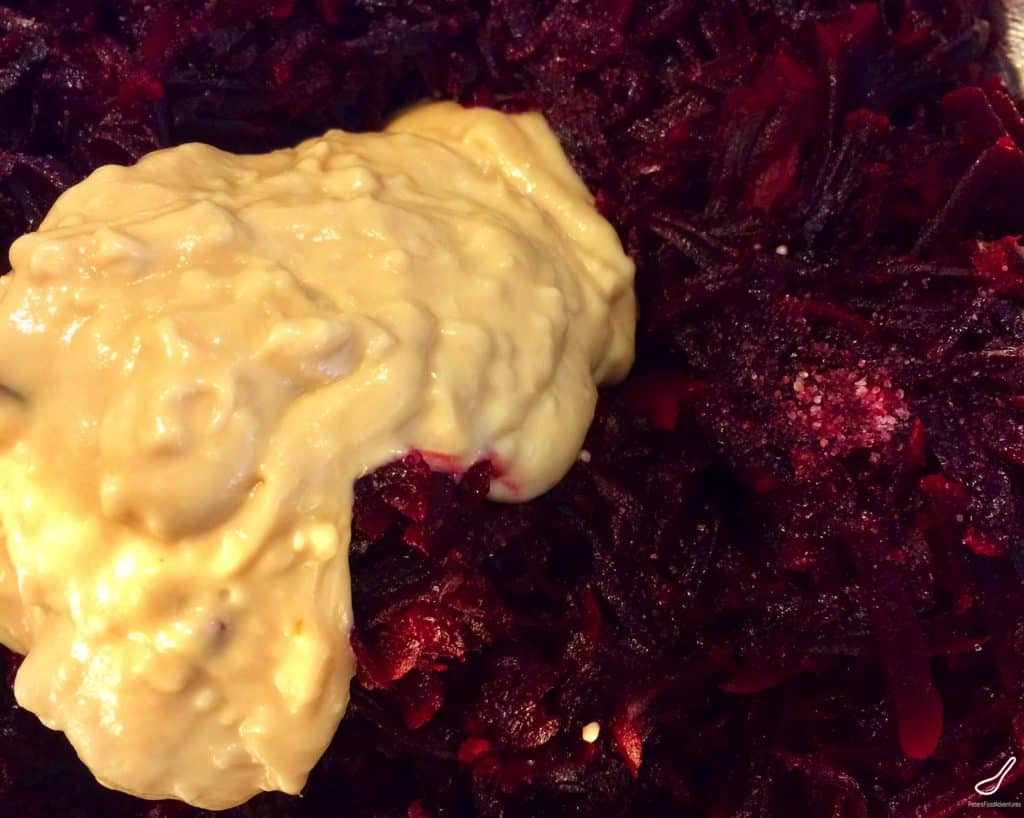 A tasty Slavic condiment with a wasabi-like kick. How to make Hren Horseradish and Beets (Хрен со свеклой). Perfect with steak or smoked meats!