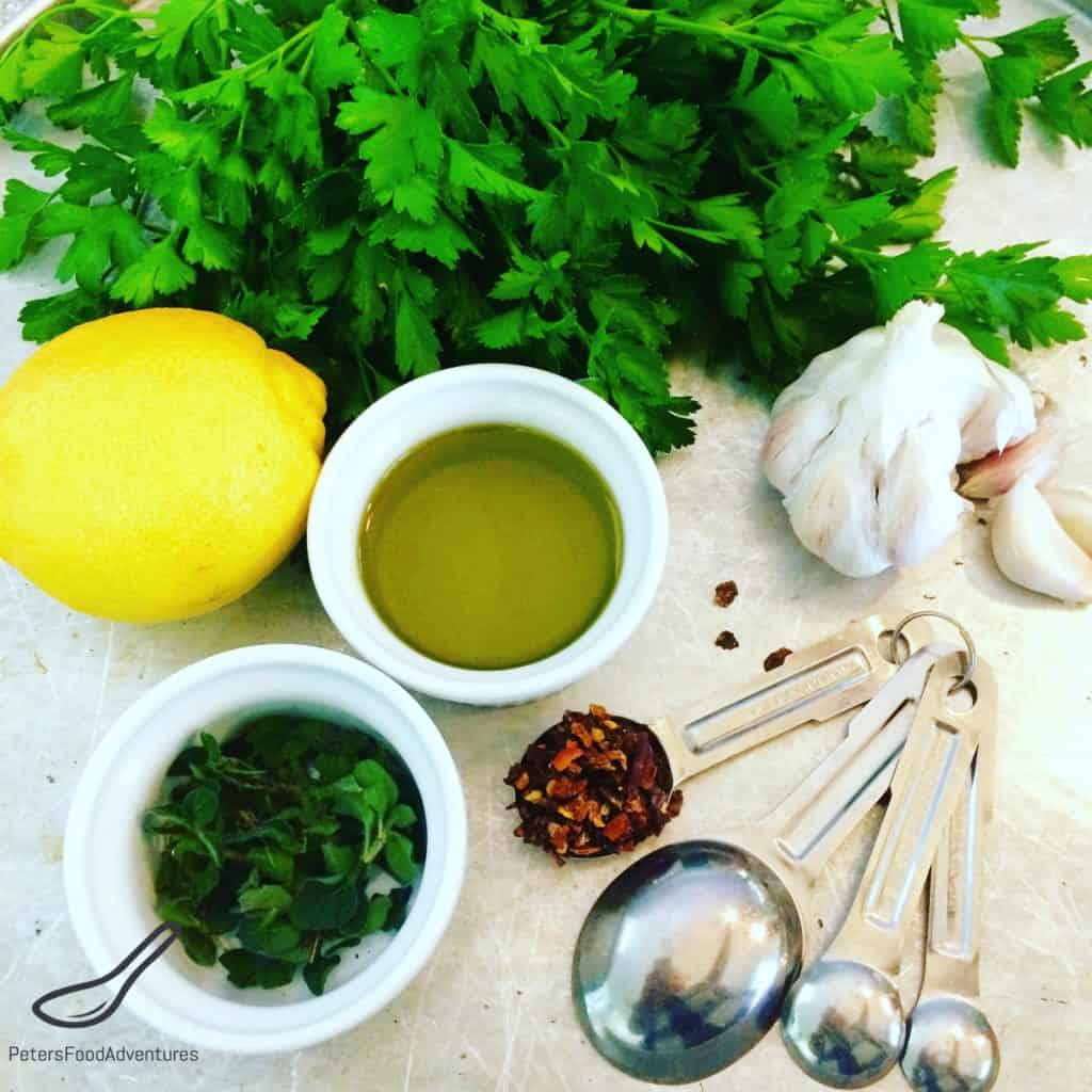 Chimichurri ingredients