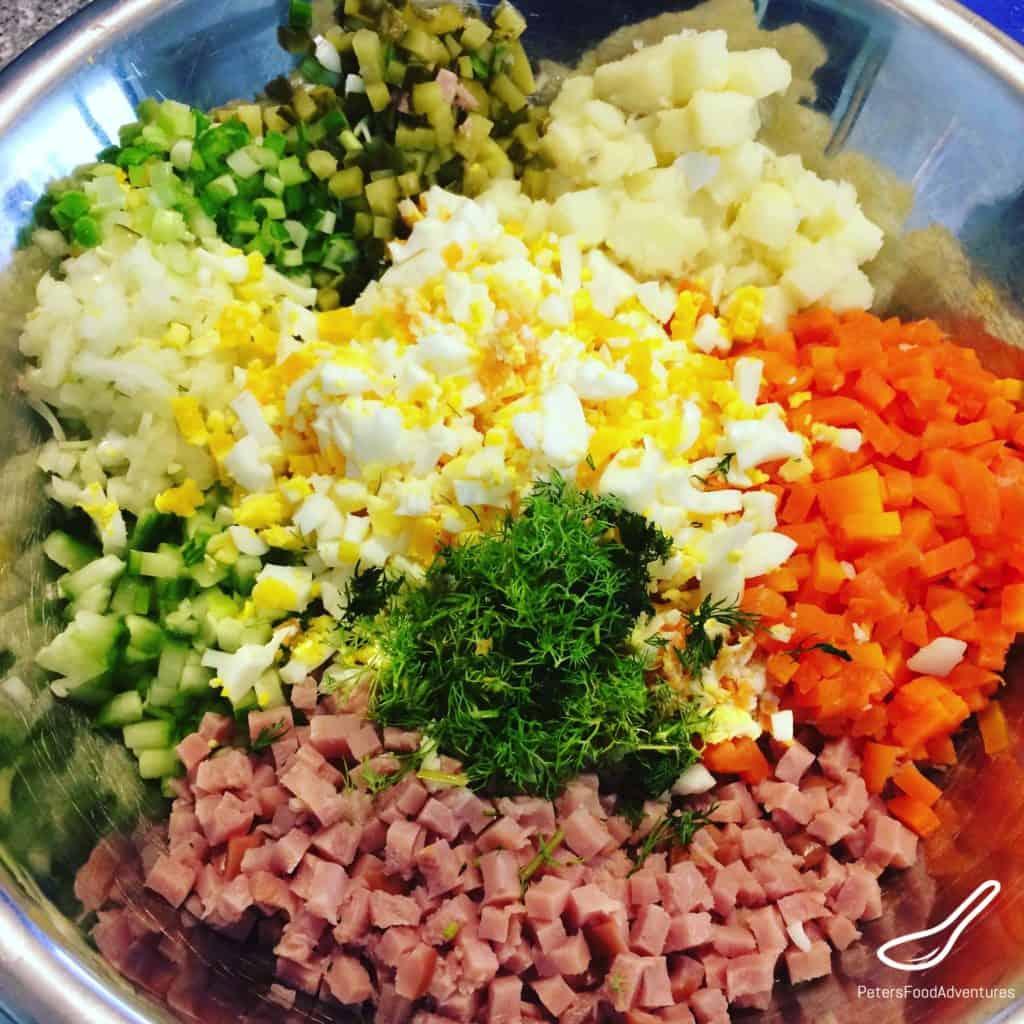 Making Olivier Salad
