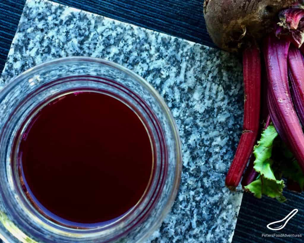 Russian Beet Kvass fermented probiotic in a glass