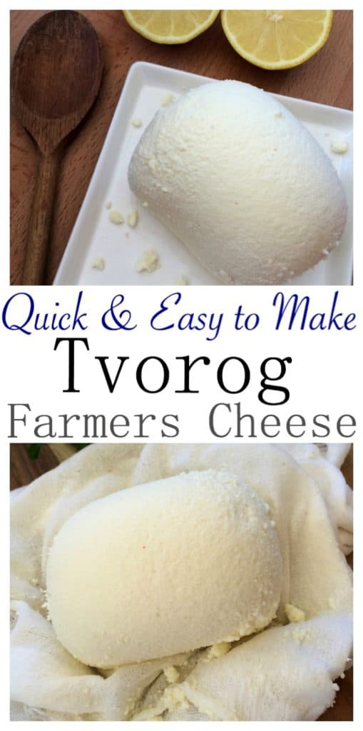 How to Make Quick & Easy Tvorog or Farmers Cheese (творог)