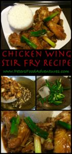 Easy Asian StirFry Served with Rice, Tasty Authentic Flavours, Finger Licking Good! - Chinese Chicken Wing and Mushroom Stir Fry Recipe