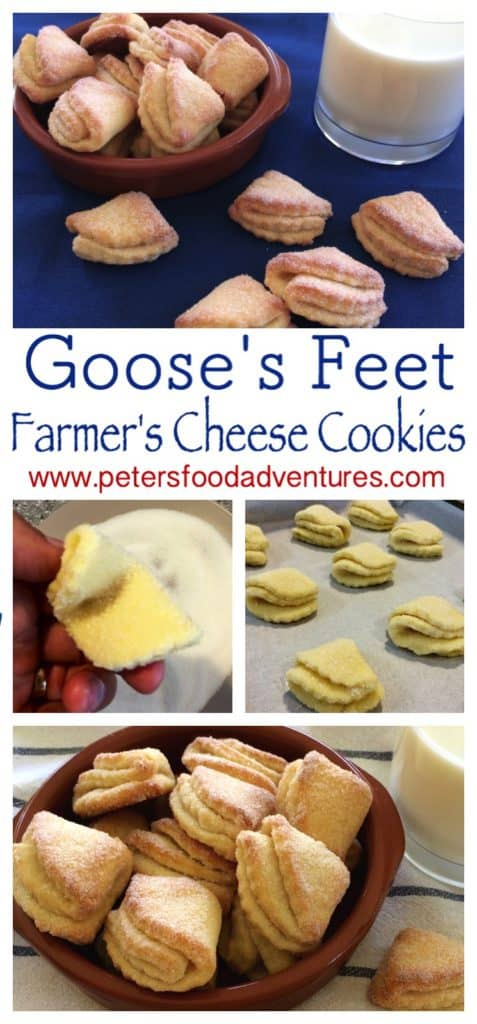 Easy and delicious Farmers Cheese Cookies, made with Tvorog or Quark. I love this Goose's Feet Cookies recipe