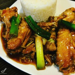 Easy Asian Stir Fry Served with Rice. Tasty Authentic Flavours with soy sauce shaoxing, garlic and green onions, Finger Licking Good! - Chinese Chicken Wing Stir Fry