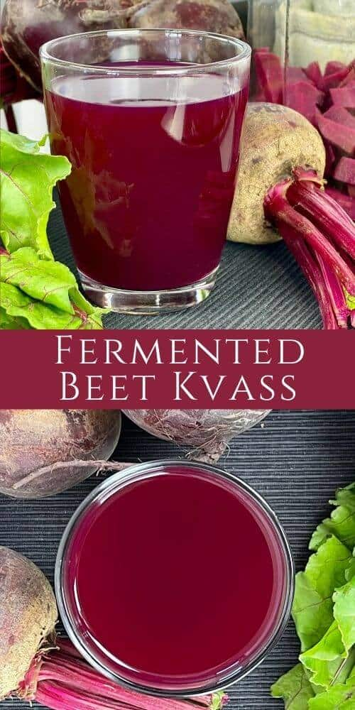 Beet Kvass is a Russian lacto-fermented probiotic drink made with beets, which people drink for their health. Full of nutrients and vitamins, and a great detox elixir! Check out the original Eastern European recipe.