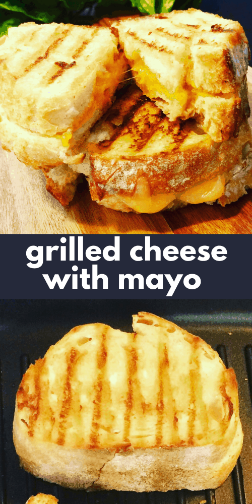 This is the secret to making a crispy Grilled Cheese Sandwich recipe! I love the how easy it is make, and you don't need to spread hard butter! Who knew that mayo could make such a difference when makeing grilled toasties. You're gonna love this!