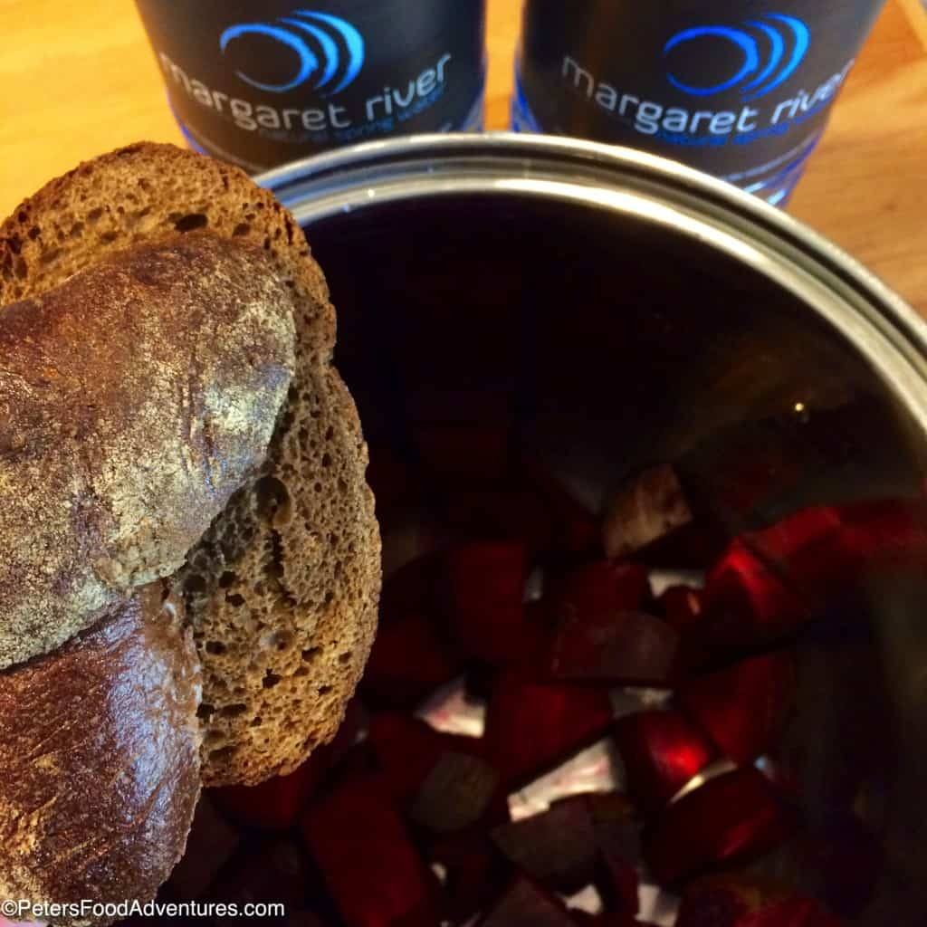Fermented Beet Kvass made with Rye Bread