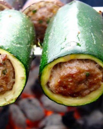 Grilled Stuffed Vegetable Kebabs