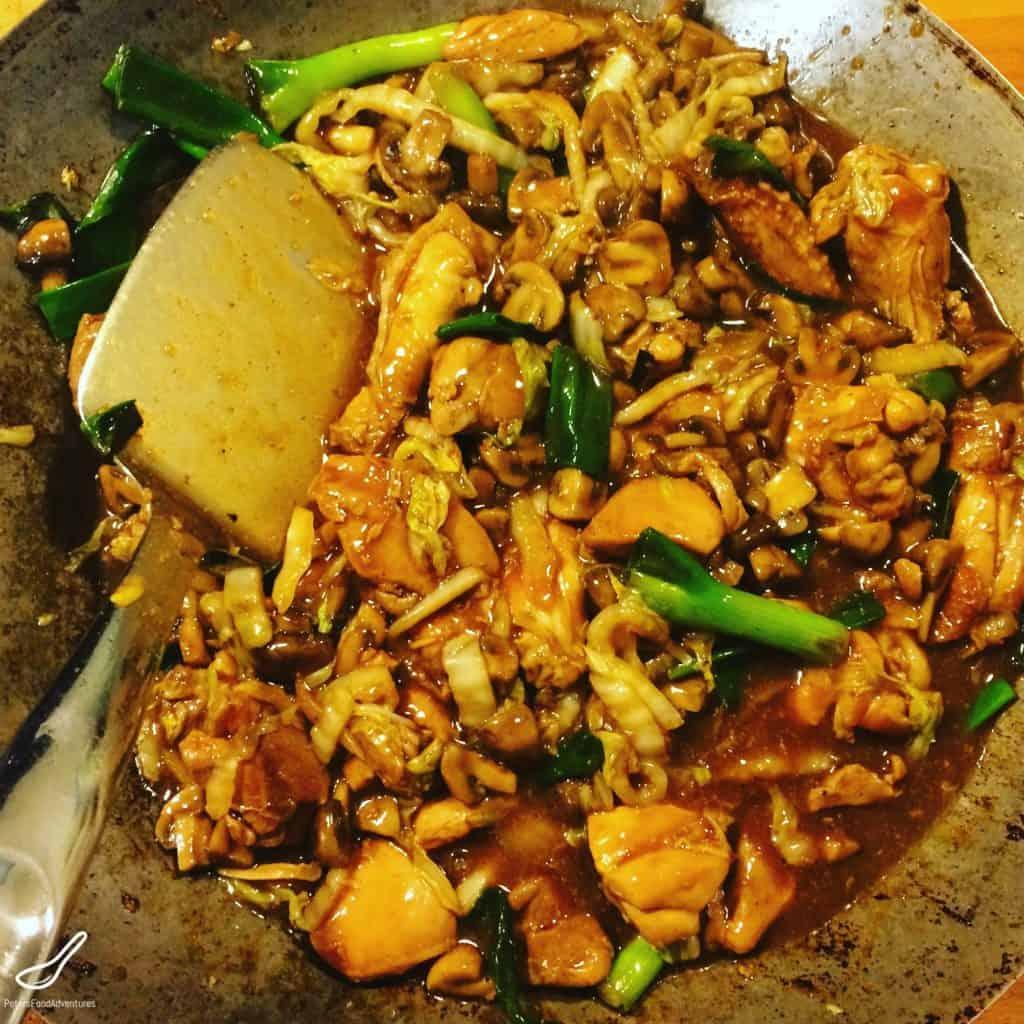 wok chicken wing stirfry