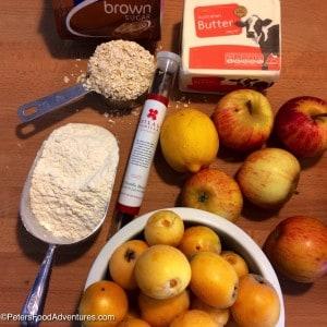 -Loquat Apple Crumble ingredients