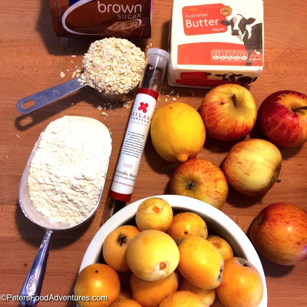 loquat crumble ingredients