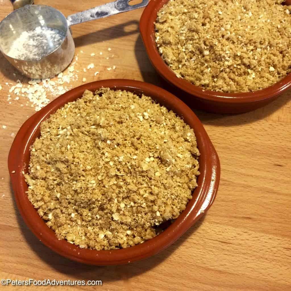 preparing unbaked loquat crumble