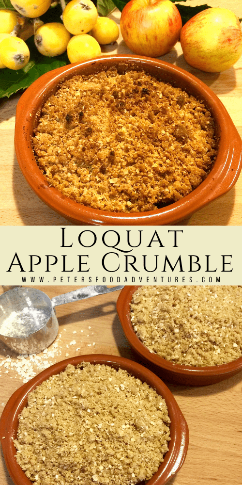 How to use Loquat fruit? Make a Apple and Loquat Crumble! Also known as Japanese Plum, it's a recipe that's easy to make and a delicious. A great way to use up an abundance of fruit, a tasty recipe that everyone will love! A perfect way to use up a fruit, that many people have forgotten about!