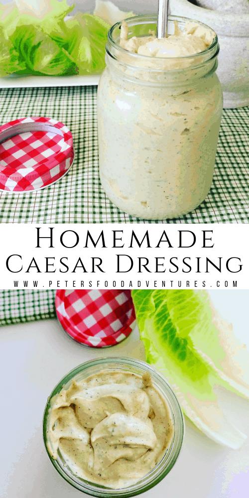 Garlic Caesar Salad Dressing Recipe