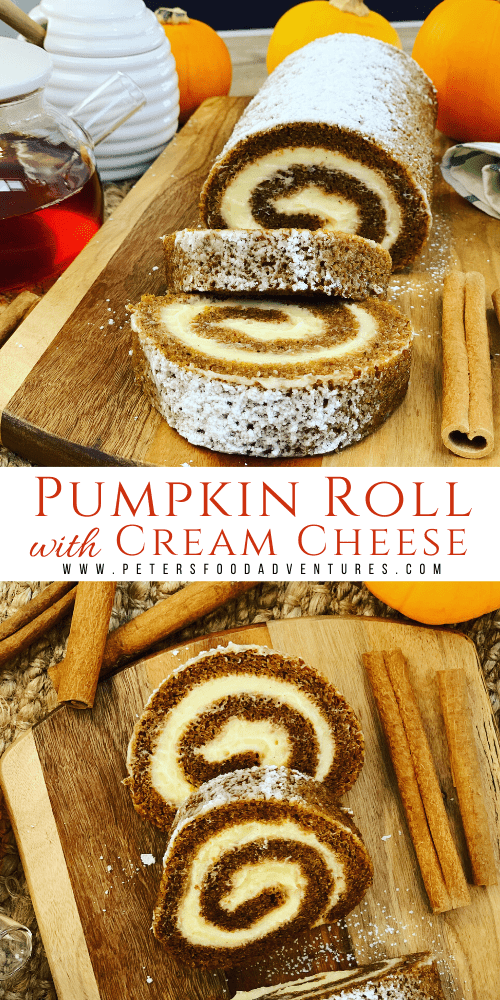 Pumpkin Roll with Cream Cheese