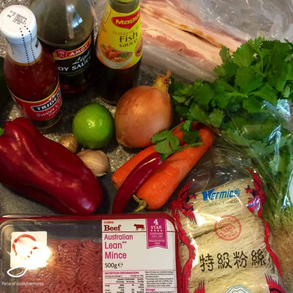 Thai Beef Rissoles ingredients