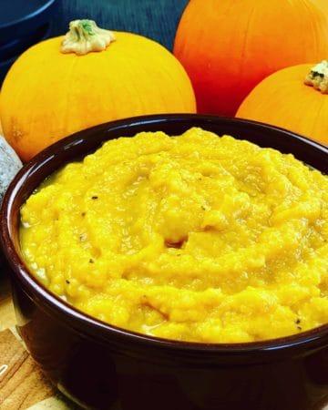Creamy Pumpkin, Potato and Leek Soup