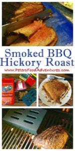 Hickory Smoked BBQ Roast Beef over a Propane Gas BBQ or Braai, using a iron smoker box - Hickory BBQ Smoked Roast