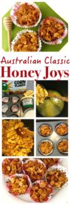 A classic Australian kids party treat made from Corn Flakes, so simple and easy to make, like Rice Krispies Squares! Australian Honey Joys Recipe