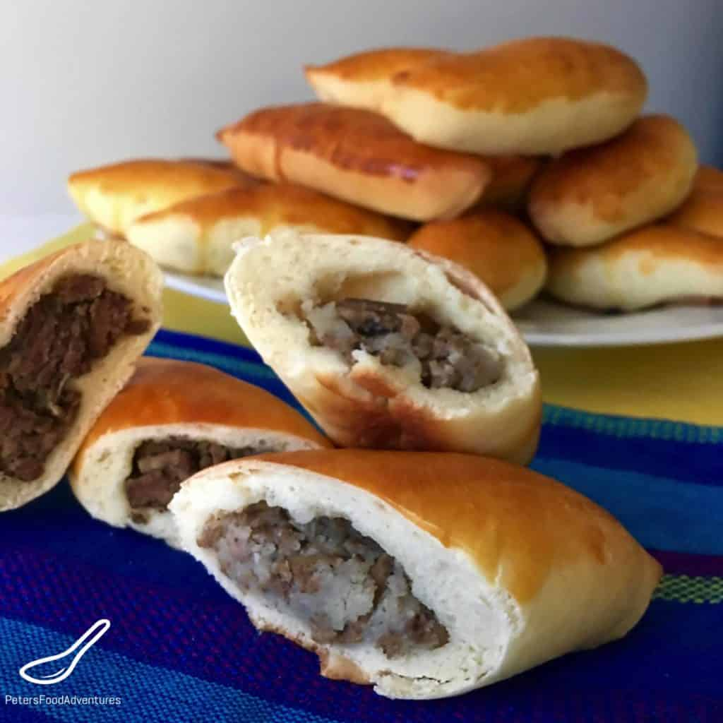 Baked Piroshki with Potato & Beef