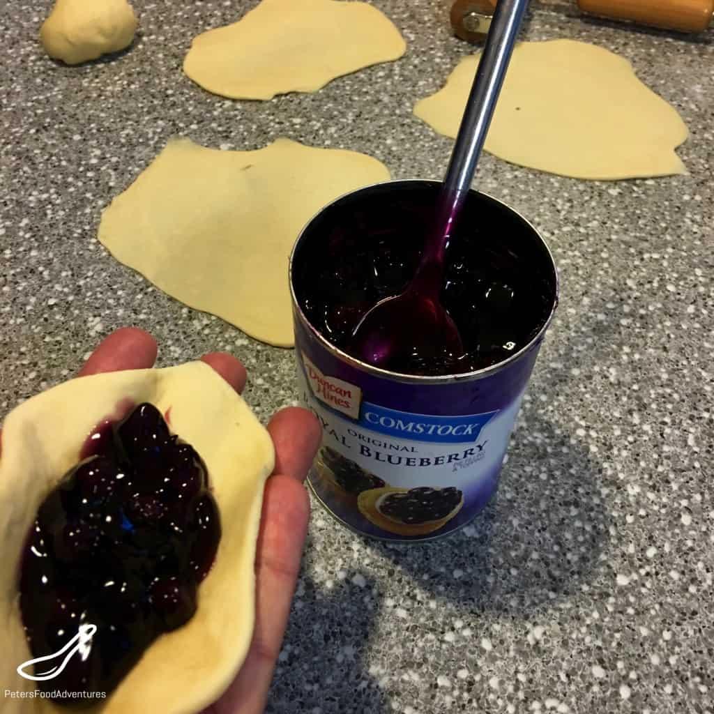 Canned Blueberries for Piroshki