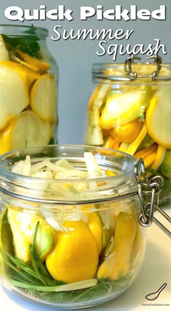 Quick Pickled Summer Squash