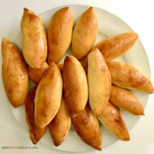 Baked Not Fried! A Classic Russian Meat Pie Stuffed with Ground Beef. Classic Oven Baked Pirozhki (Пирожки в духовке с мясом)