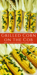Corn on the Cob in husks with fresh herb butter