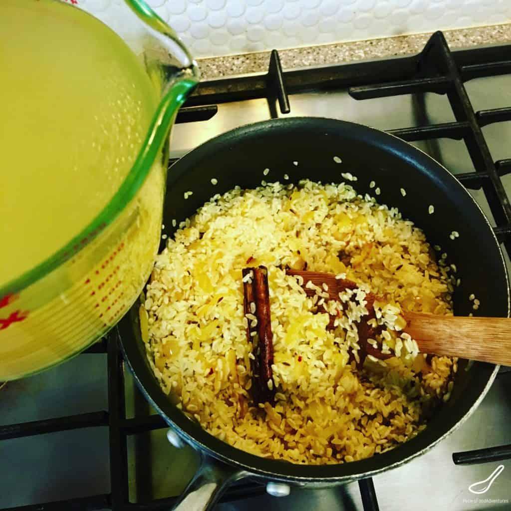 Making Indian Rice