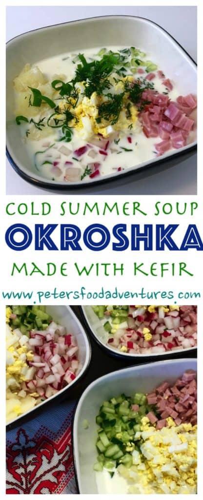 Okroshka with Kefir (Окрошка с кефиром)