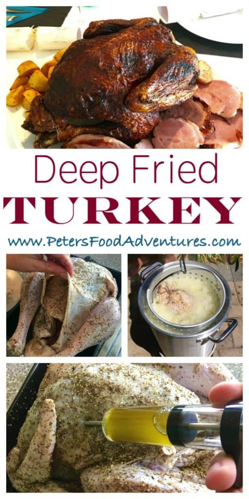 Crispy outside, juicy inside, A faster way to make turkey. Herb butter injected marinade adds flavour throughout with a tasty dry rub - Deep Fried Turkey