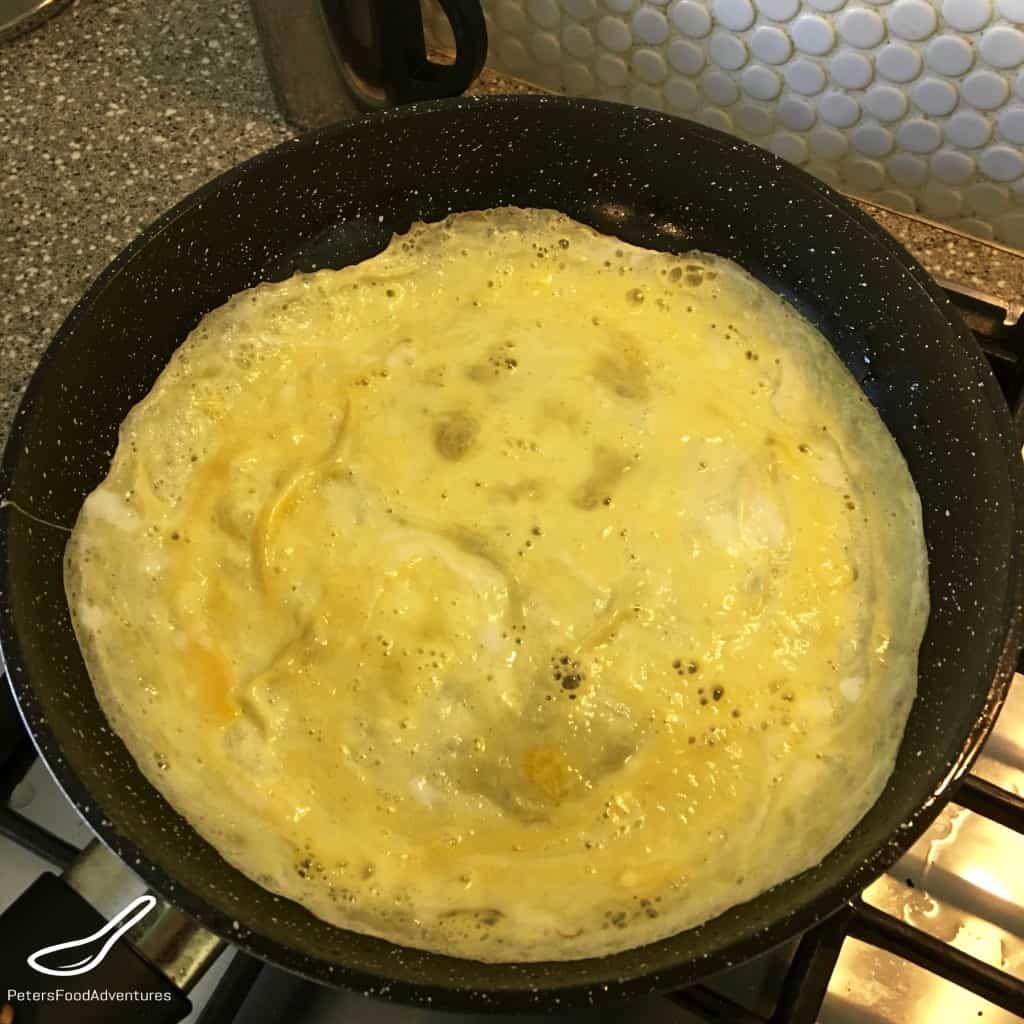frying egg omelette