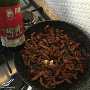Making Lagman Stir Fry