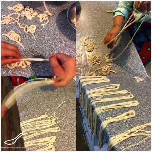 Making Lagman Pulled Noodles