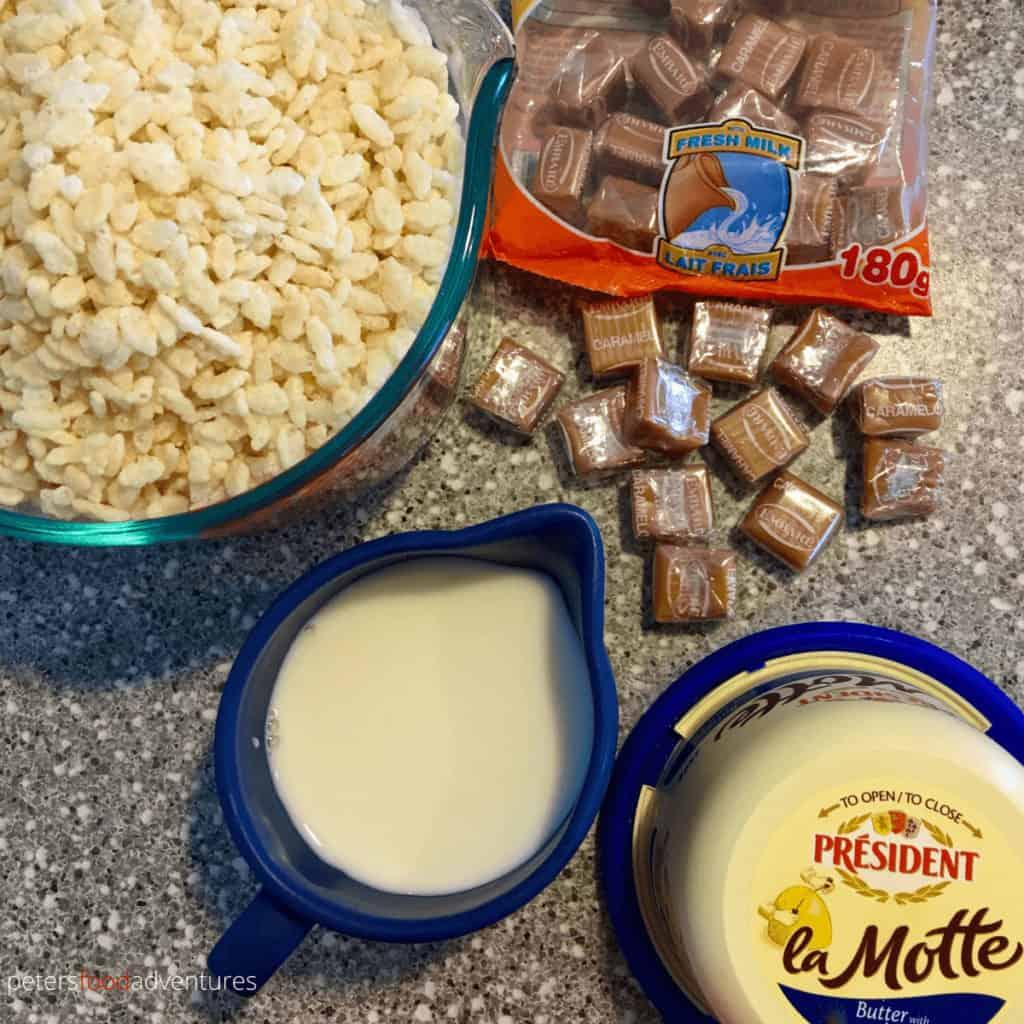 caramel rice krispies ingredients