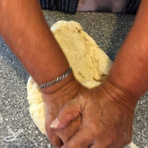 Kneading Dough for Manti (Манты)