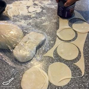 Cutting Manti circles