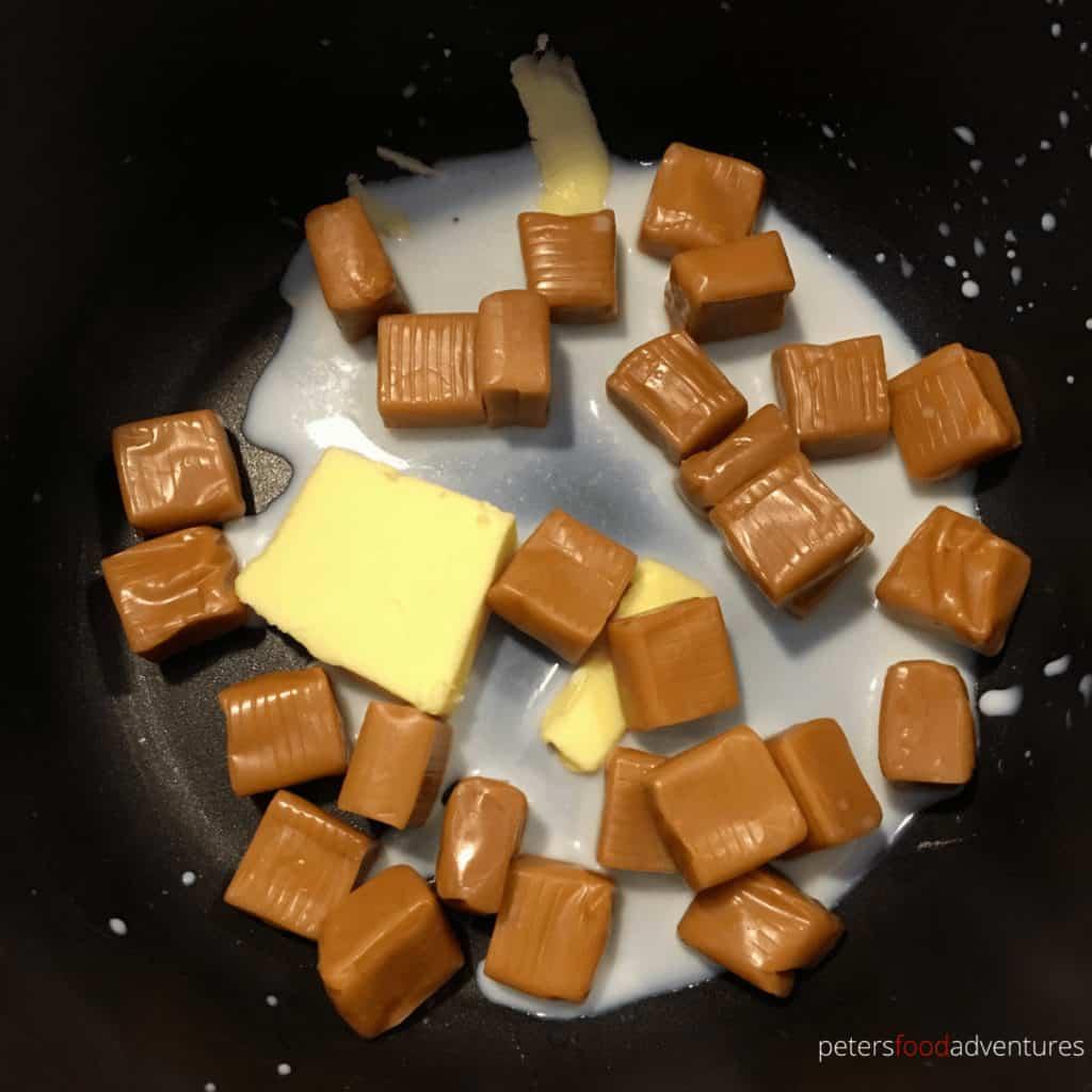 melting caramels