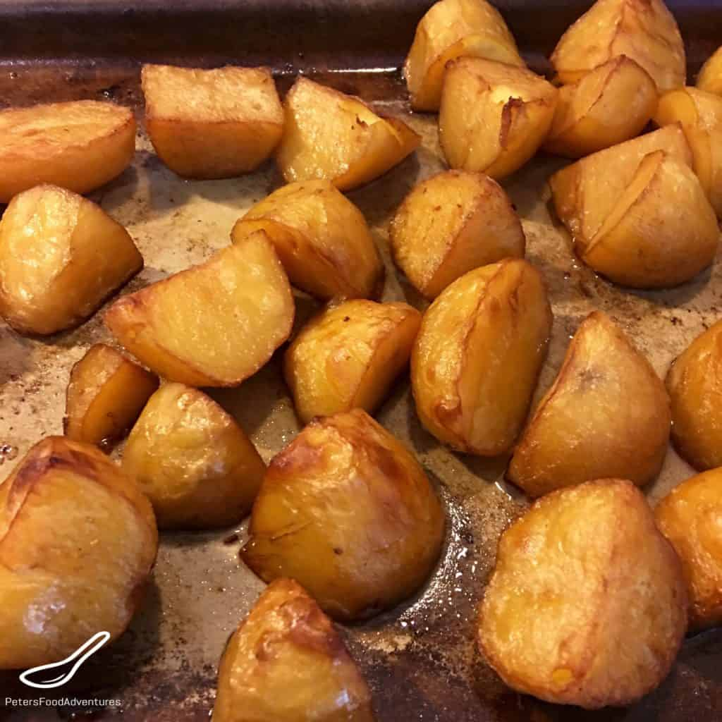 Roasting Chinese flavoured potatoes