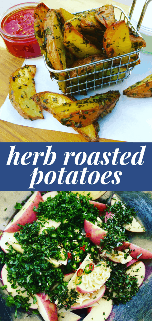 Roasted Wedges tossed in fresh herbs, oven and air fryer recipe
