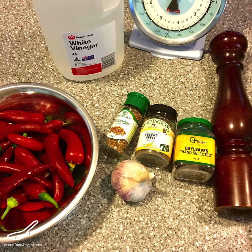 Quick Pickled Chillies ingredients