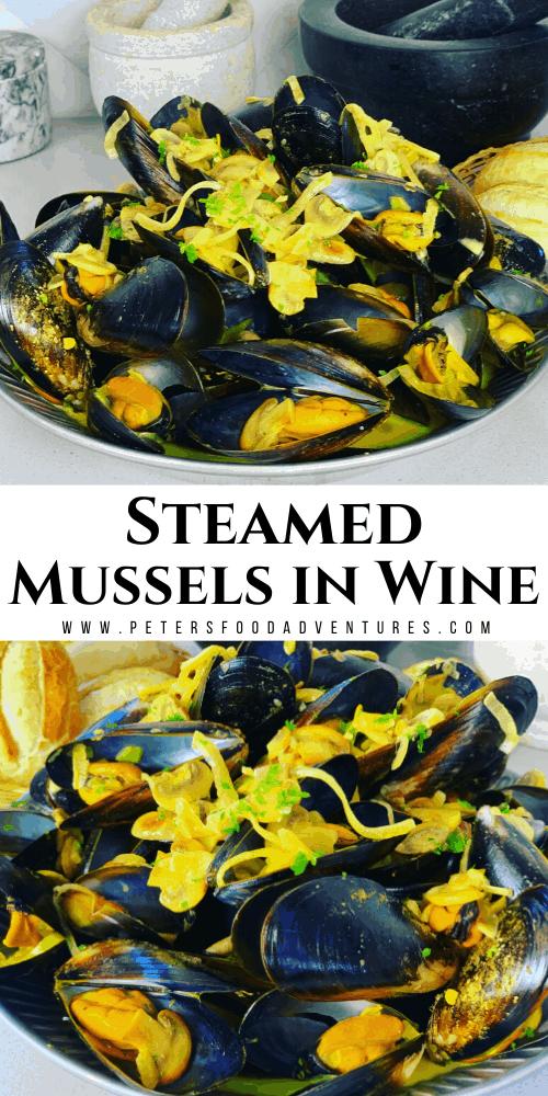 Steamed Mussels in Wine