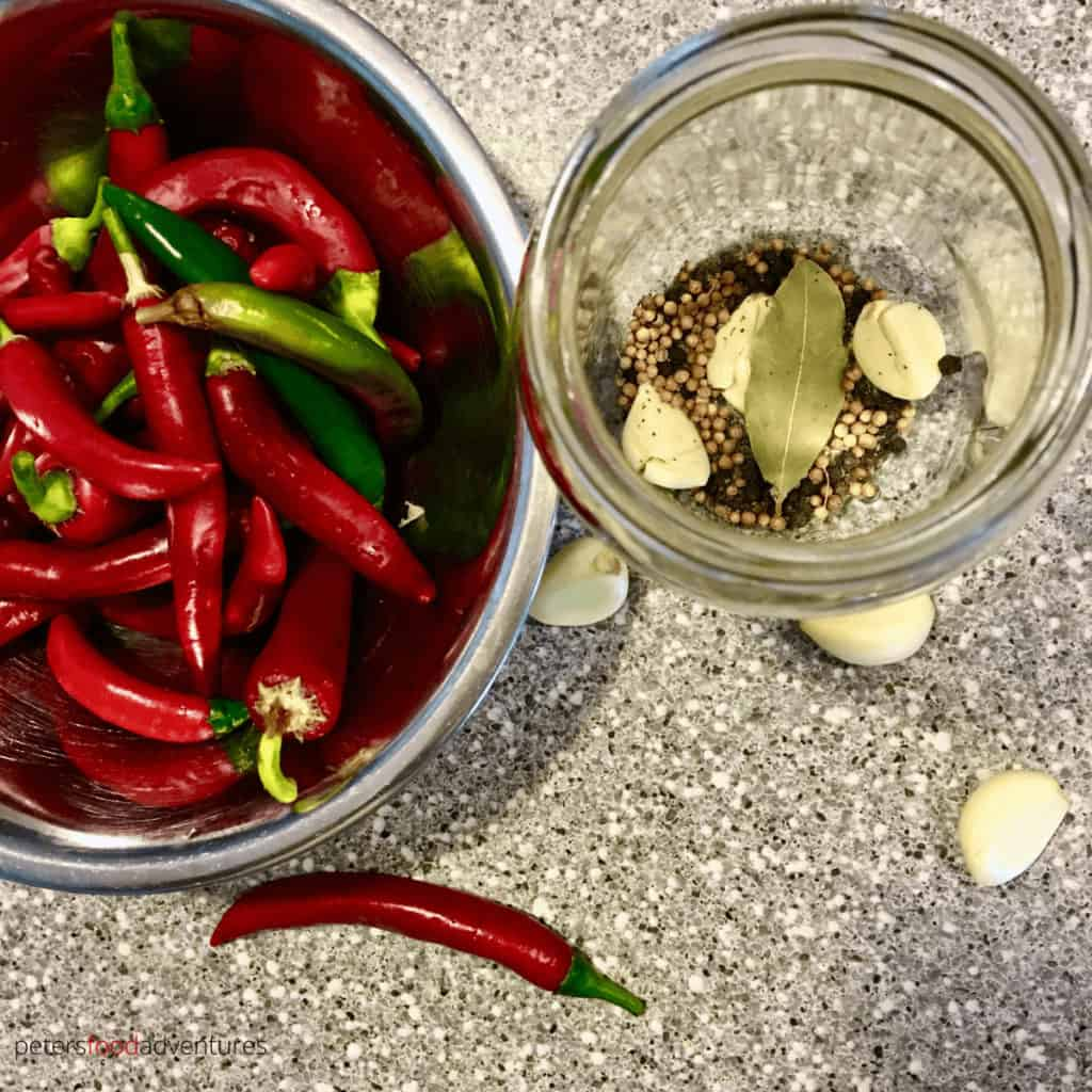 pickled chillies and spices